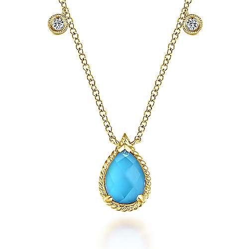 14k Yellow Gold Hampton Fashion Necklace angle 1