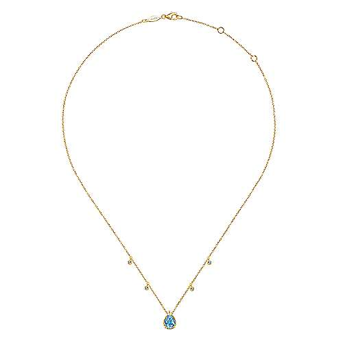 14k Yellow Gold Hampton Fashion Necklace angle 2