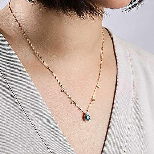 14k Yellow Gold Hampton Fashion Necklace angle 3