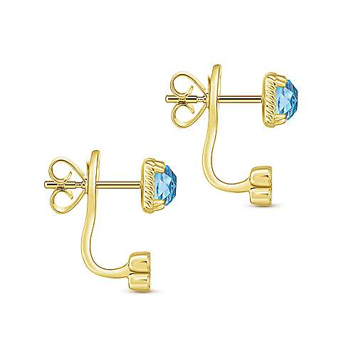 14k Yellow Gold Hampton Peek A Boo Earrings angle 3