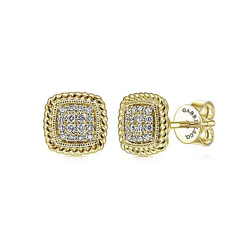 Gabriel - 14k Yellow Gold Hampton Stud Earrings