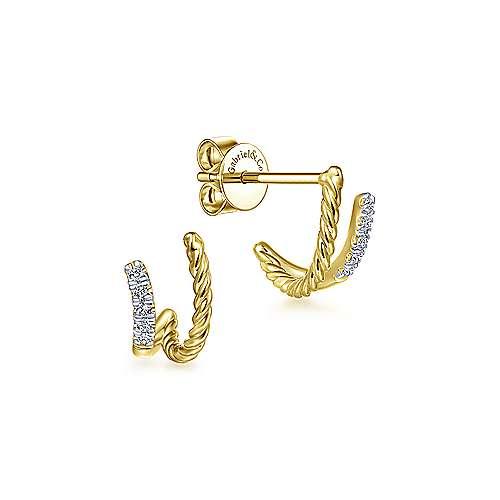 14k Yellow Gold Hampton Stud Earrings