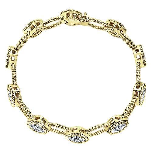 Gabriel - 14k Yellow Gold Hampton Tennis Bracelet