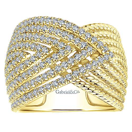 14k Yellow Gold Hampton Wide Band Ladies