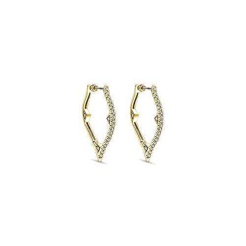 Gabriel - 14k Yellow Gold Hoops Intricate Hoop Earrings