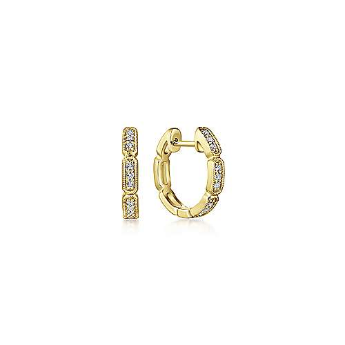 Gabriel - 14k Yellow Gold Huggies Huggie Earrings