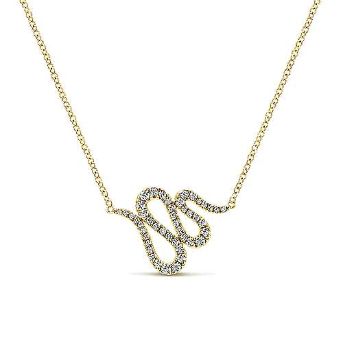 14k Yellow Gold Indulgence Fashion Necklace angle 1