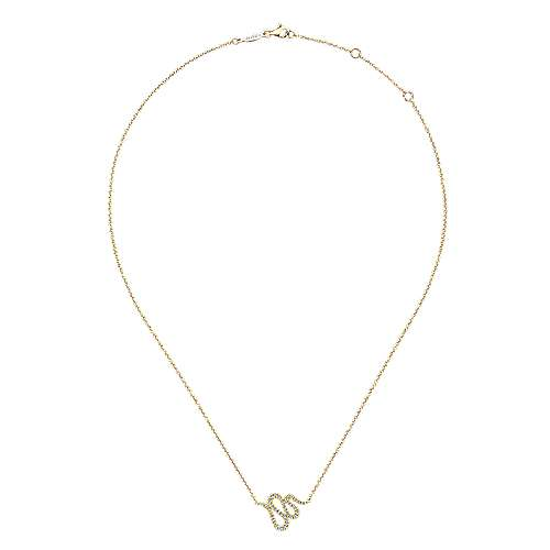 14k Yellow Gold Indulgence Fashion Necklace angle 2