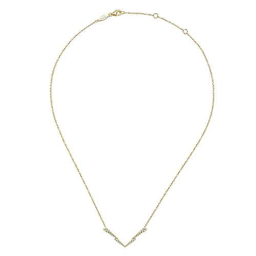 14k Yellow Gold Kaslique Bar Necklace angle 2