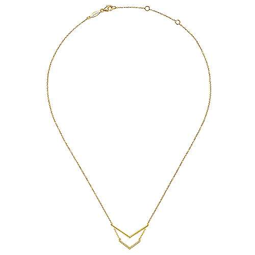 14k Yellow Gold Kaslique Bar Necklace