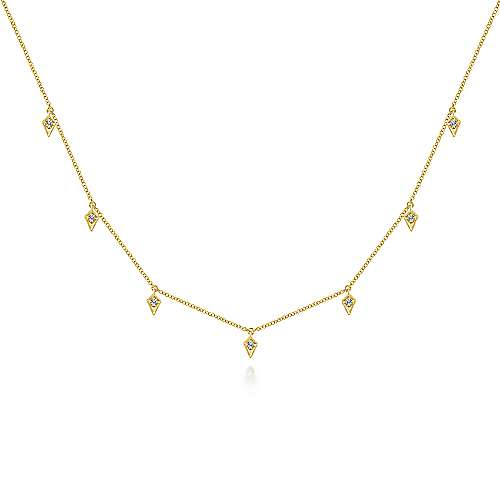 14k Yellow Gold Kaslique Choker Necklace
