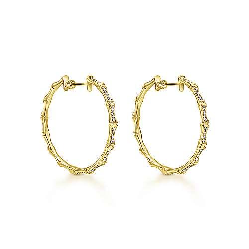 14k Yellow Gold Kaslique Classic Hoop Earrings