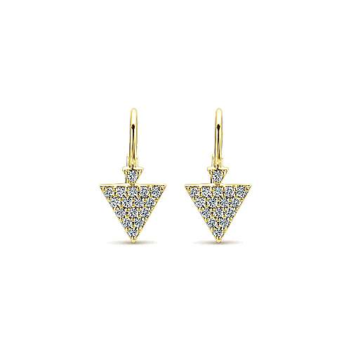 14k Yellow Gold Kaslique Drop Earrings angle 1