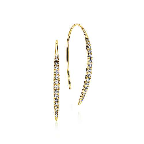 Gabriel - 14k Yellow Gold Kaslique Drop Earrings