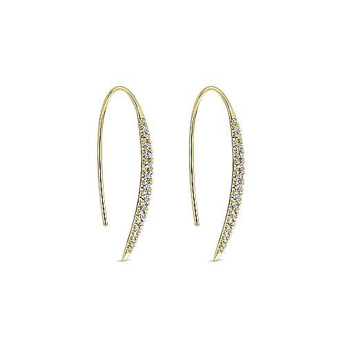 14k Yellow Gold Kaslique Drop Earrings angle 2