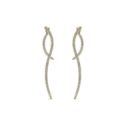 Gabriel - 14k Yellow Gold Kaslique Drop Earrings