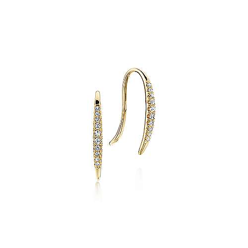 14k Yellow Gold Kaslique Ear Climber Earrings