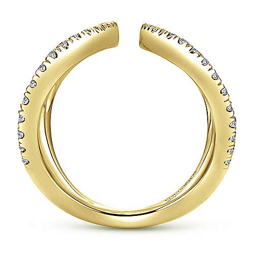14k Yellow Gold Kaslique Fashion Ladies' Ring angle 2