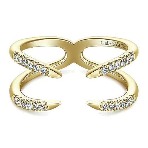 14k Yellow Gold Kaslique Fashion Ladies' Ring angle 1