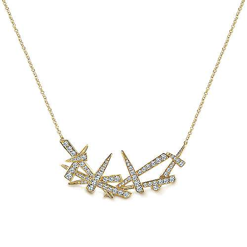 Gabriel - 14k Yellow Gold Kaslique Fashion Necklace