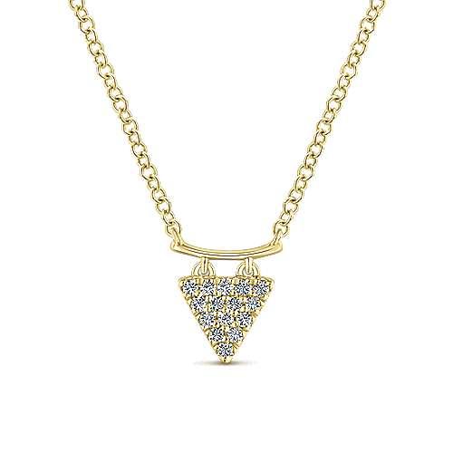 14k Yellow Gold Kaslique Fashion Necklace angle 1