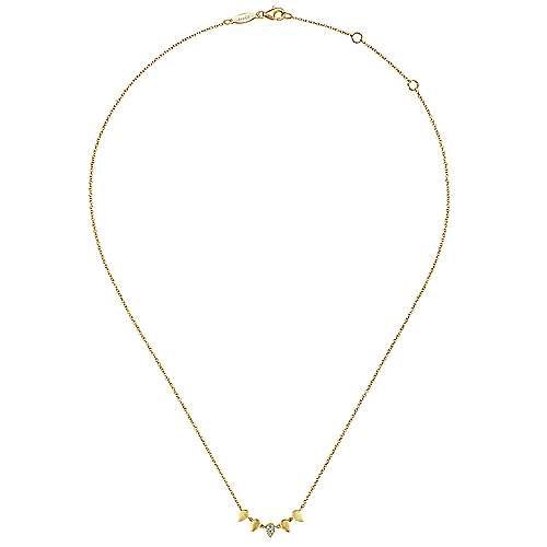 14k Yellow Gold Kaslique Fashion Necklace angle 2