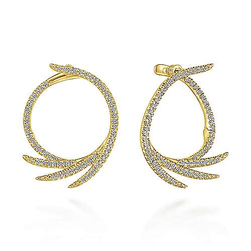Gabriel - 14k Yellow Gold Kaslique Intricate Hoop Earrings