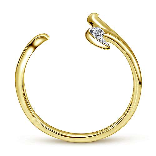 14k Yellow Gold Kaslique Midi Ladies' Ring angle 2