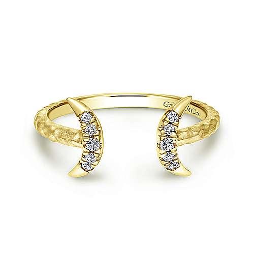 14k Yellow Gold Kaslique Midi Ladies' Ring angle 1