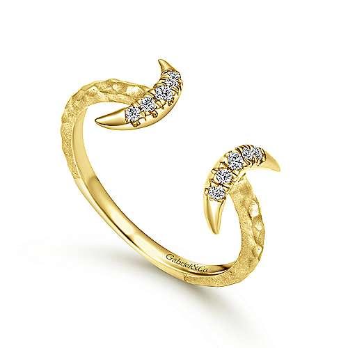 14k Yellow Gold Kaslique Midi Ladies' Ring angle 3