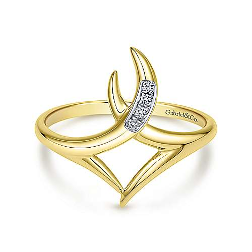 14k Yellow Gold Kaslique Midi Ladies' Ring angle 1