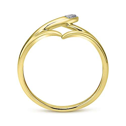 14k Yellow Gold Kaslique Midi Ladies' Ring angle 2