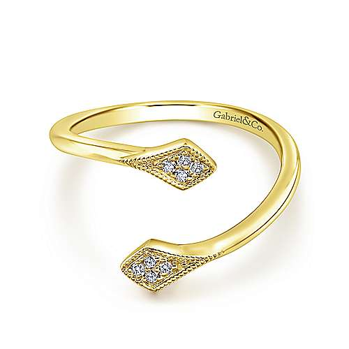 Gabriel - 14k Yellow Gold Kaslique Midi Ladies' Ring