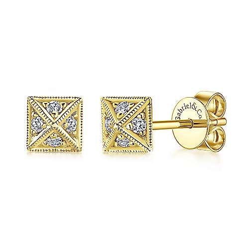 14k Yellow Gold Kaslique Stud Earrings