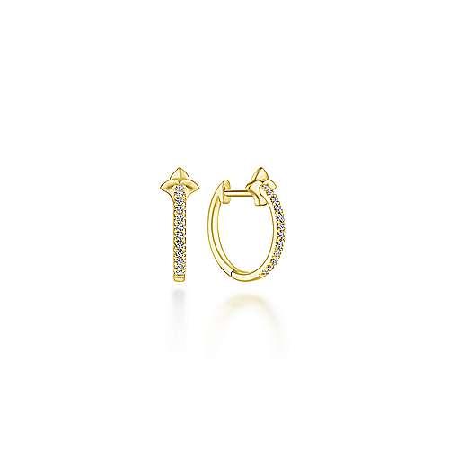 14k Yellow Gold Kaslique Stuggies Earrings