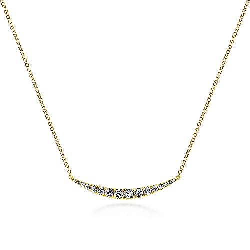 Gabriel - 14k Yellow Gold Lusso Bar Necklace