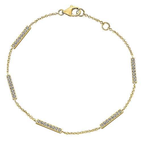 14k Yellow Gold Lusso Chain Bracelet