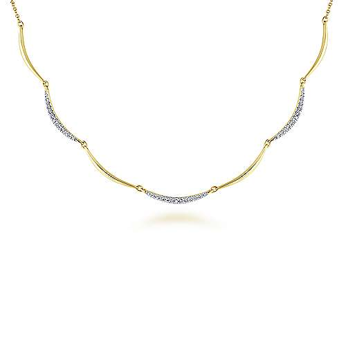 14k Yellow Gold Lusso Choker Necklace angle 1