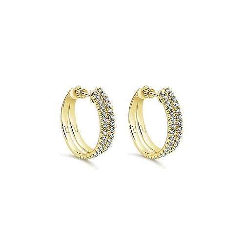 14k Yellow Gold Lusso Classic Hoop Earrings