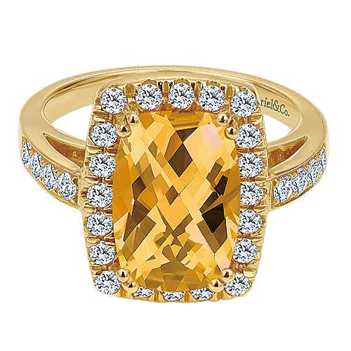14k Yellow Gold Lusso Color Classic Ladies' Ring angle 1