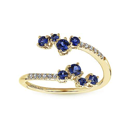 14k Yellow Gold Lusso Color Fashion Ladies' Ring angle 4