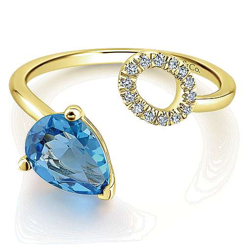 Gabriel - 14k Yellow Gold Lusso Color Fashion Ladies' Ring