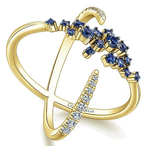 14k Yellow Gold Lusso Color Fashion Ladies