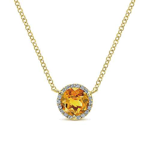 14k Yellow Gold Lusso Color Fashion Necklace