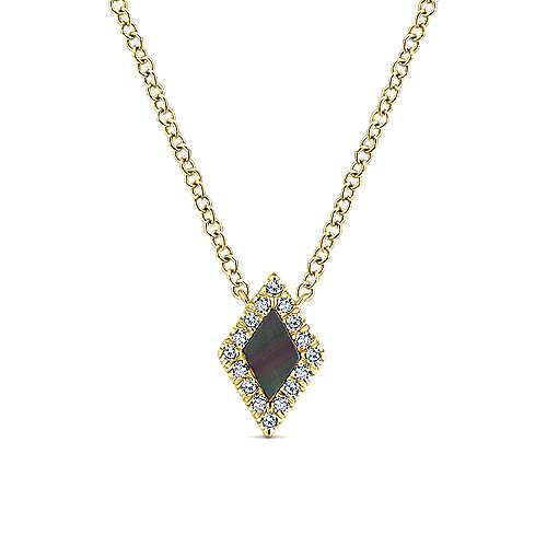 14k Yellow Gold Lusso Color Fashion Necklace angle 1