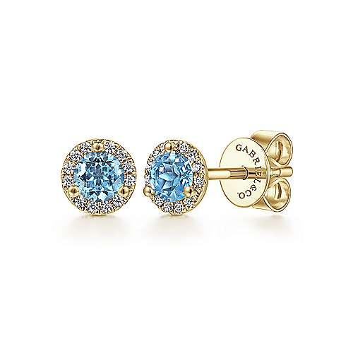 Gabriel - 14k Yellow Gold Lusso Color Stud Earrings