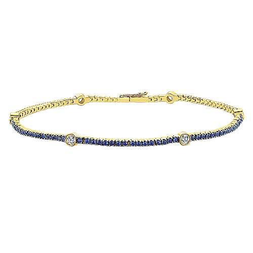 14k Yellow Gold Lusso Color Tennis Bracelet