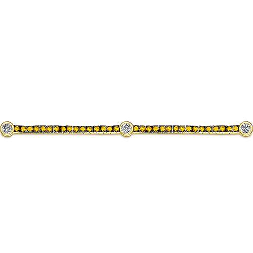 14k Yellow Gold Lusso Color Tennis Bracelet angle 2