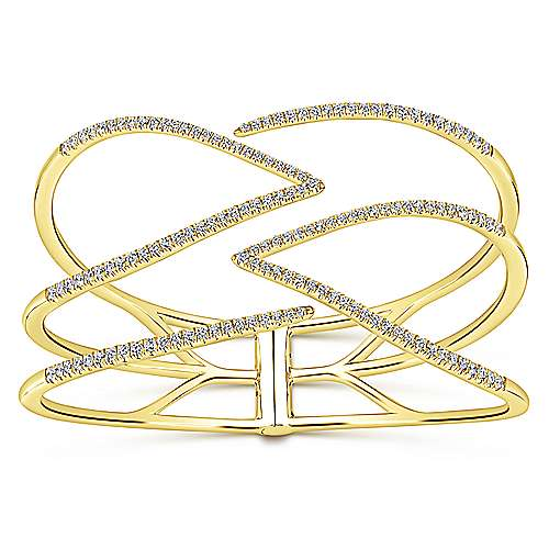 Gabriel - 14k Yellow Gold Lusso Diamond Bangle
