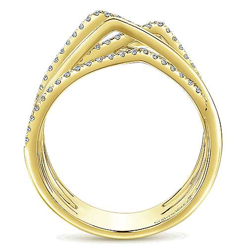 14k Yellow Gold Lusso Diamond Fashion Ladies